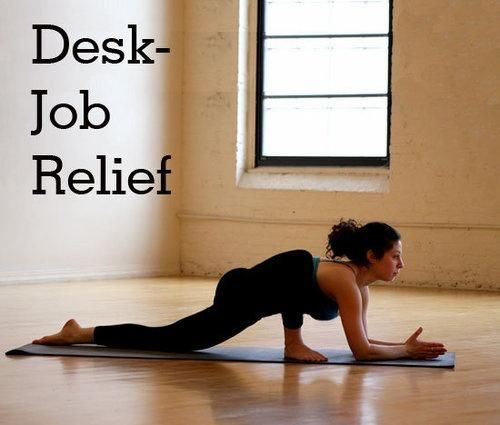 yoga poses to do after sitting in class or at work in a desk all day