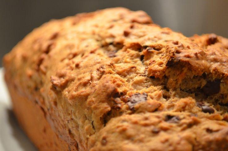 Opskrift: Bananbrød uden sukker - TastyPrettyThings  (Bages med en blanding af hvedemel og fuldkornsmel)