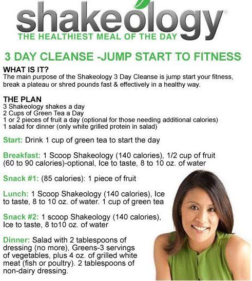 Shakeology Cleanse instructions