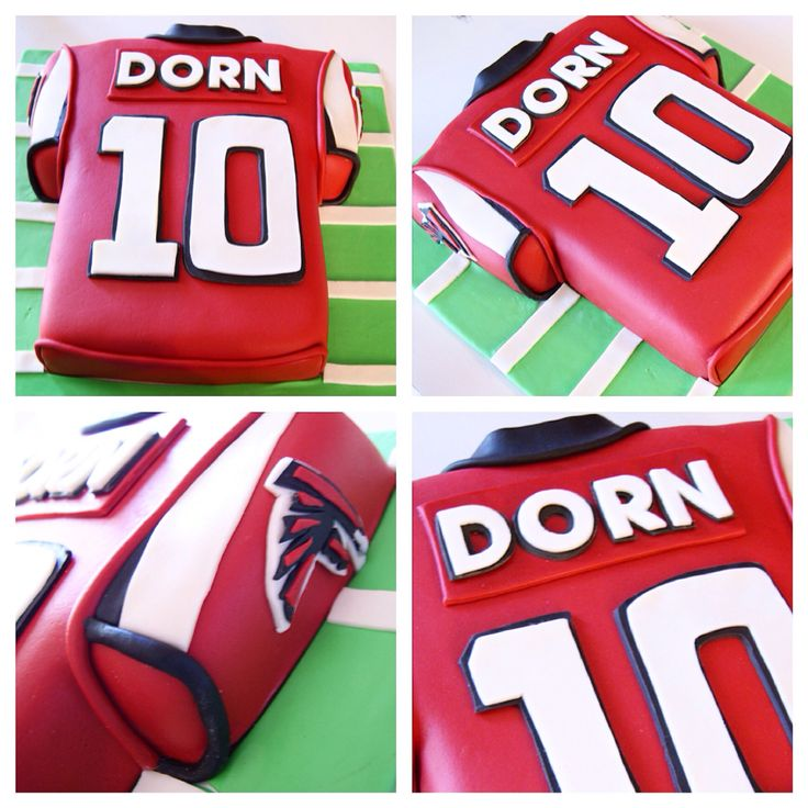 Atlanta Falcons football jersey cake