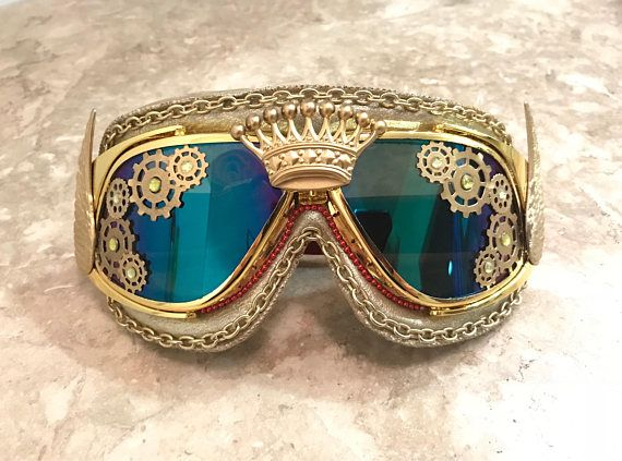 bf2c3d9d06 King Midas Gold Steampunk Mardi Gras Burning Man Goggles ...