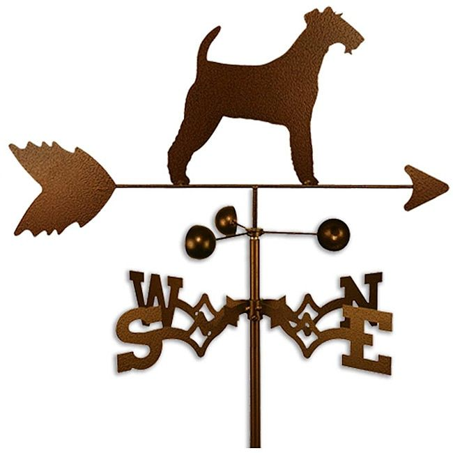Handmade Irish Terrier Dog Copper Weathervane