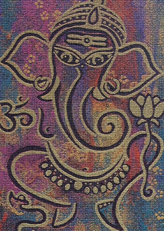 Ganesha Ganesh Ganesha print Ganesha art by AngelaMillarSoulArt