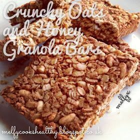 Melfy Cooks Healthy: Crunchy Oats and Honey Granola Bars - #Cooks #crunchy #granola #healthy #honey -