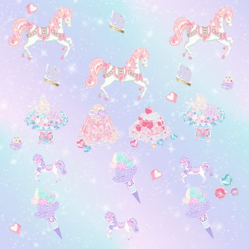 kawaii background #glitter background #unicorns #kawaii