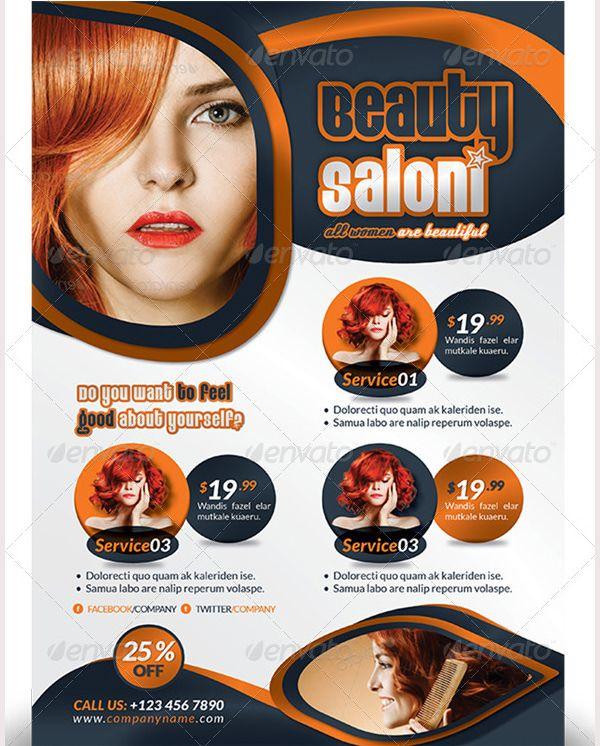 69 Best 66 Beauty Salon Flyer Templates Images On Pinterest Ai