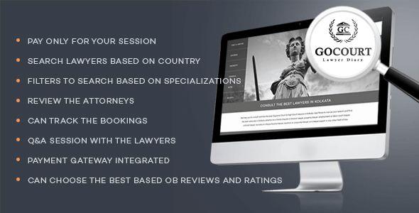Descricción: Download GOCOURT Codecanyon Premium Online Lawyer Booking Solutions PHP Script GOCOURTes una plataforma en línea para contratar a los mejores abogados del país desarrollados en PHP y MySql la mejor solución para usted es para que obtenga los mejores abogados en todo el país, busque el asesoramiento de varios abogados para resolver sus problemas …