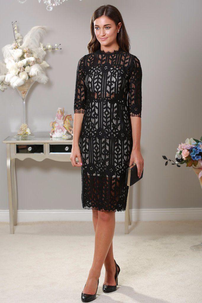 Lauren Black Lace Dress