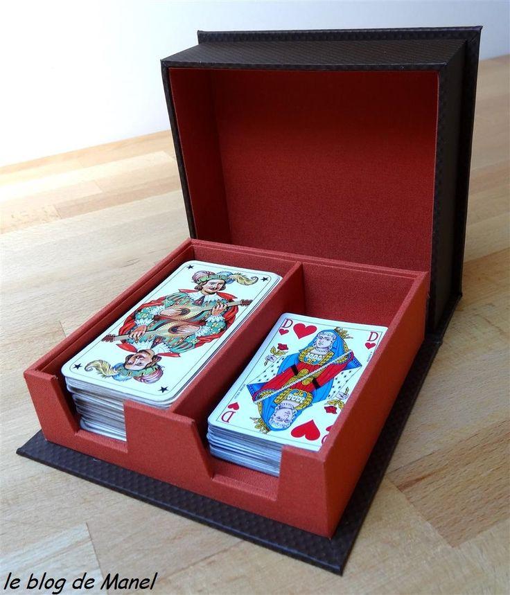 Les cartonnages de manel boite jeux de cartes mes for Boite a jeux