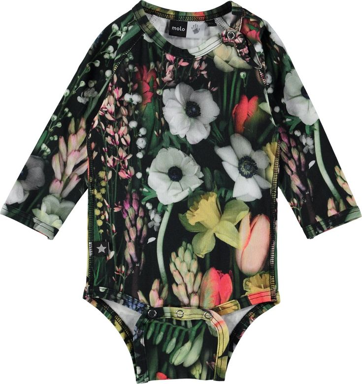 Fonda - Soft Botanic - long sleeve body stocking with flower print