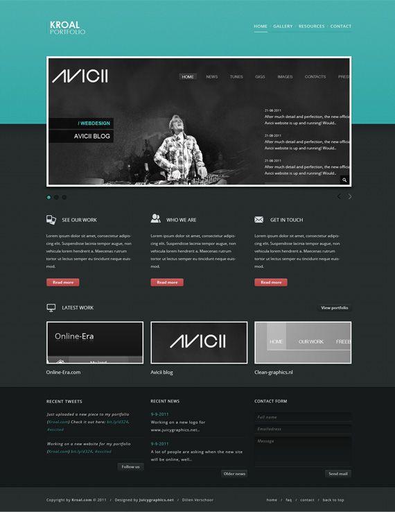 Create a Classic-Styled Portfolio Design in Adobe Photoshop: Design Tutorials, Website Tutorials, Layout Design, Adobe Photoshop, Website Layout, Website Design, Webdesign Design, Photoshop Tutorials, Website Webdesign
