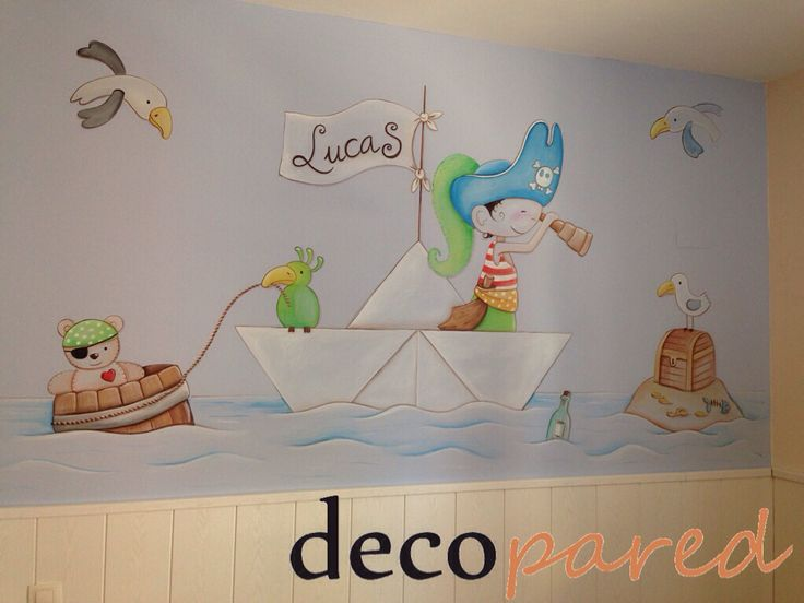 25 best ideas about mural infantil on pinterest - Mural para habitacion ...