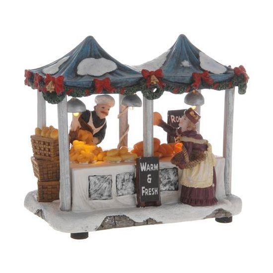 Huisjes bestellen bij warenhuis Bellatio. Kersthuisje warme broodjes kraam , nu voor � 10.99, levering in 24 uur. Huisjes, Kerst dorpen, Feestartikelen.