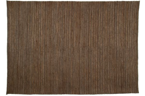 Casa Uno Jute/Cotton Home Carpet Area Rug Soumak Rib Charcoal - NEW