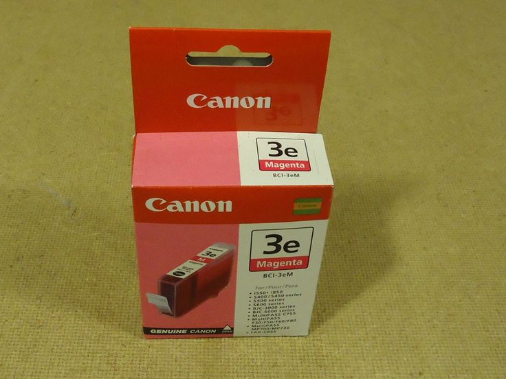 Canon Printer Cartridge Magenta Genuine OEM BCI-3eM Ink -- New