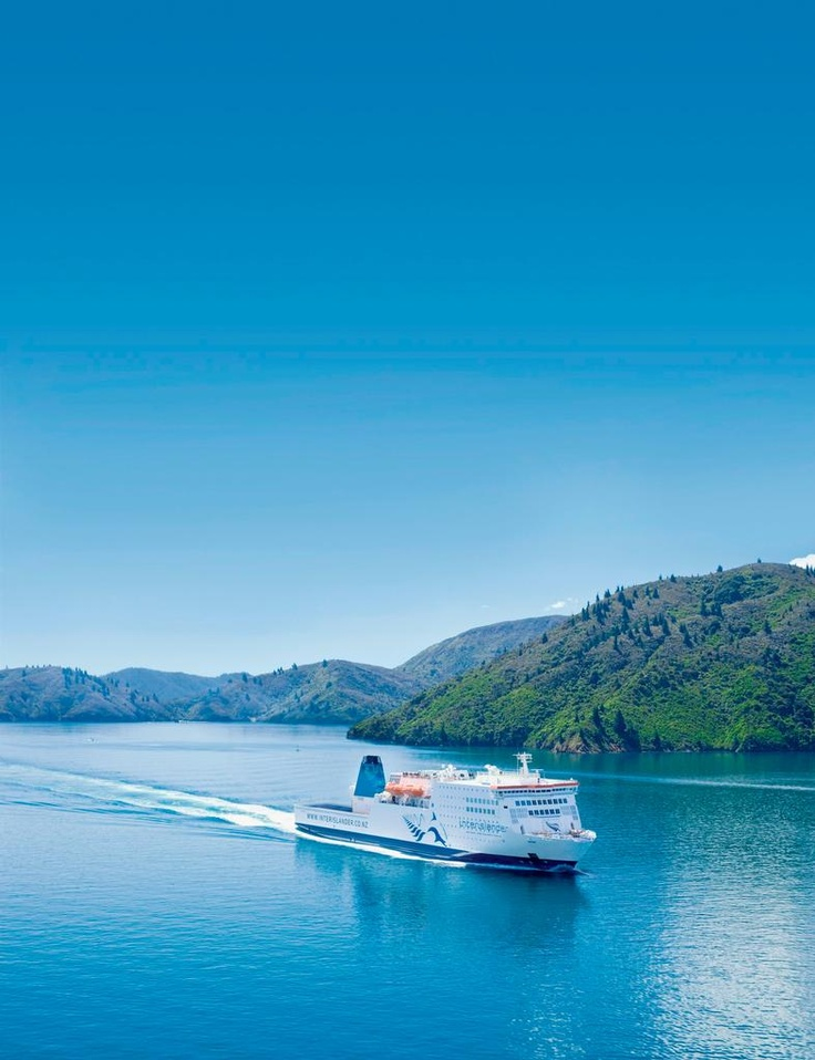 The Interislander sails through the Marlborough Sounds