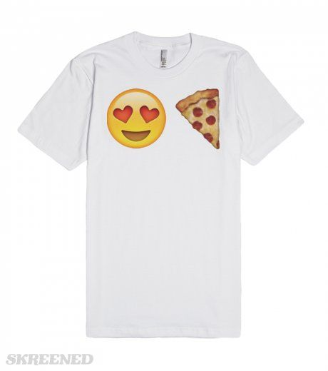Emoji Loves Pizza | Emoji loves pizza. Wear this funny tee as a bold statement of your love of pizza! #Emoji