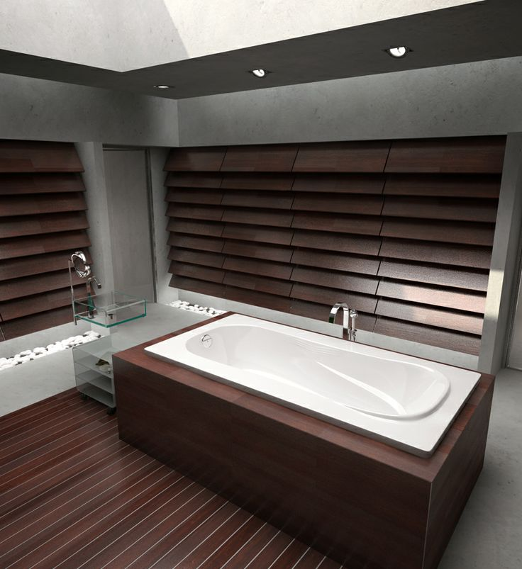 The Ambassador Model 7236 - 6' Acrylic Bathtub