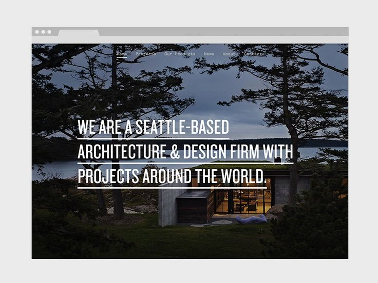 Testing my new web boilerplate with one of my favorite architecture firms.