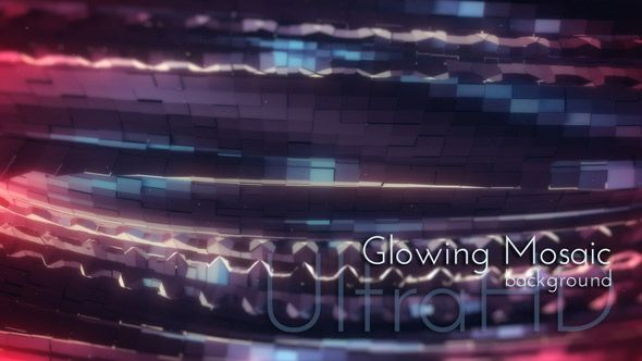 Glowing Mosaic Motion UltraHD Back, loop backgrounds, Daily Design Project