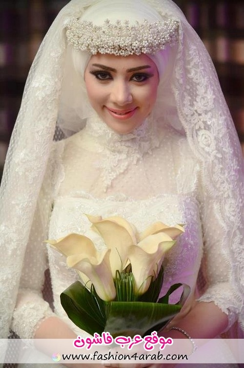 beautiful bridal hijab