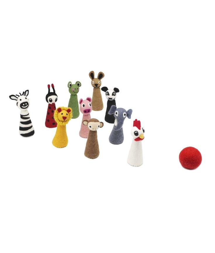 animal bowling set