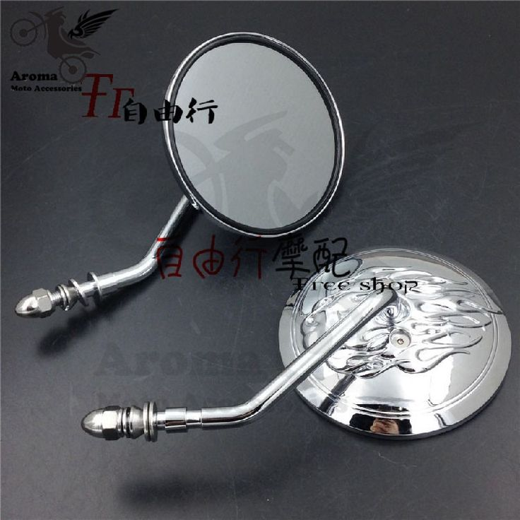 49.99$  Watch here - big size round universal 8mm 10mm motorbike side mirrors moto for suzuki honda yamaha harley X48 XL883 1200 motorcycle rearview   #magazineonline