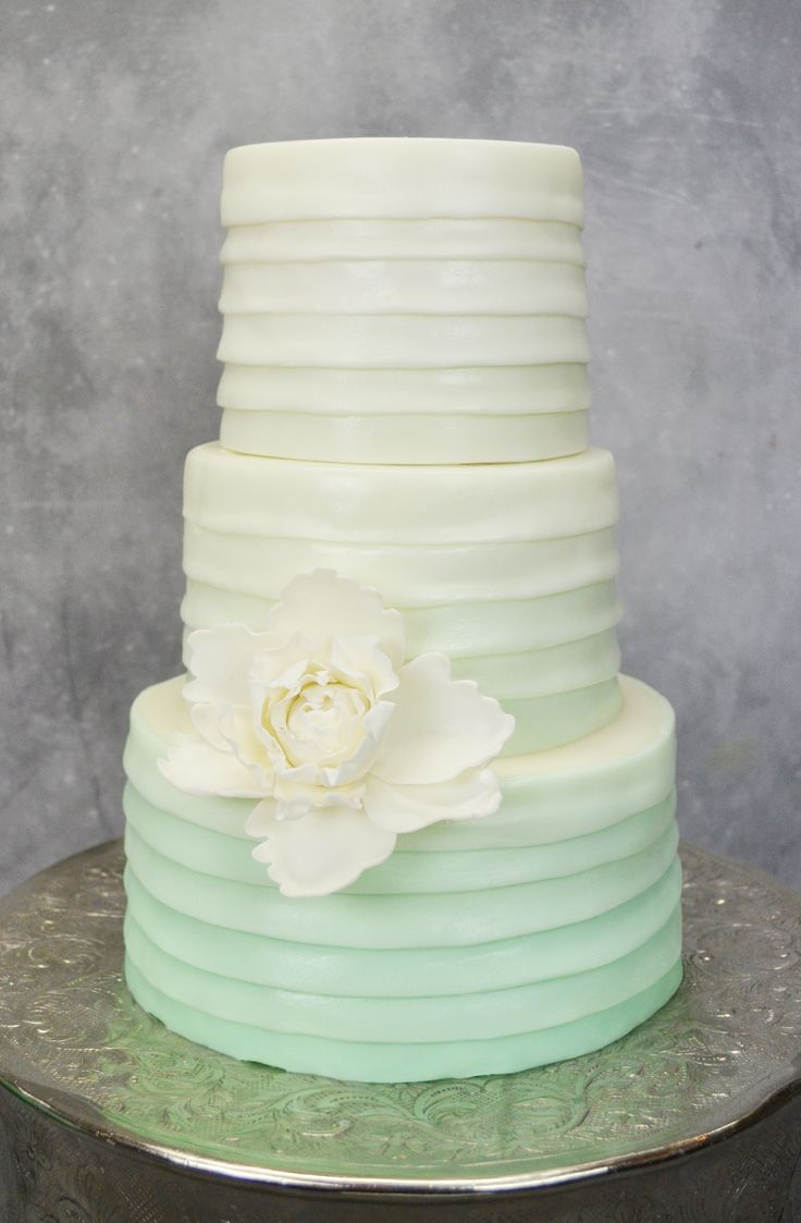 Ombre Wedding Cake by Artisan Cake Company