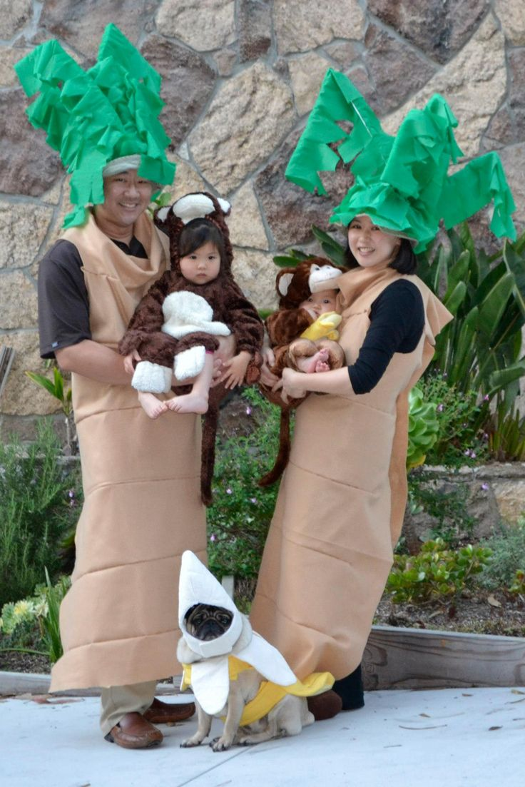 Family costume: Palm Trees, monkeys, banana