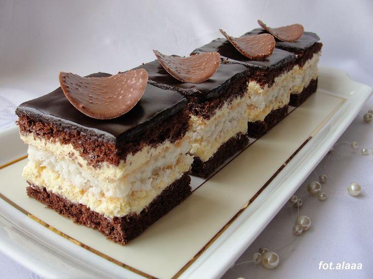 Ala piecze i gotuje: Ciasto czekoladowo kokosowe z adwokatowym kremem