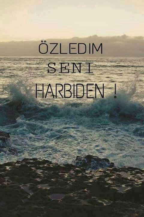 ÖZLEDİM SENİ HARBİDEN !