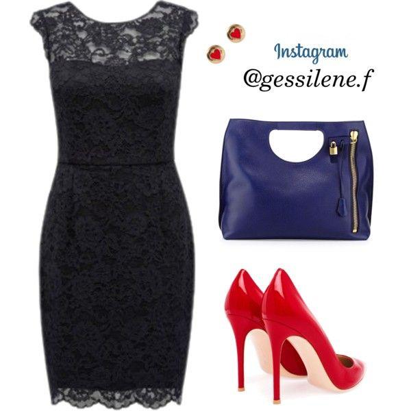 vestido de renda by gessilene-ferreira on Polyvore featuring moda, Forever New, Gianvito Rossi, Tom Ford and Accessorize