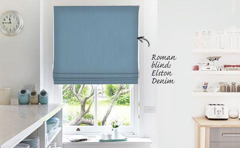 Elston orange roman blinds