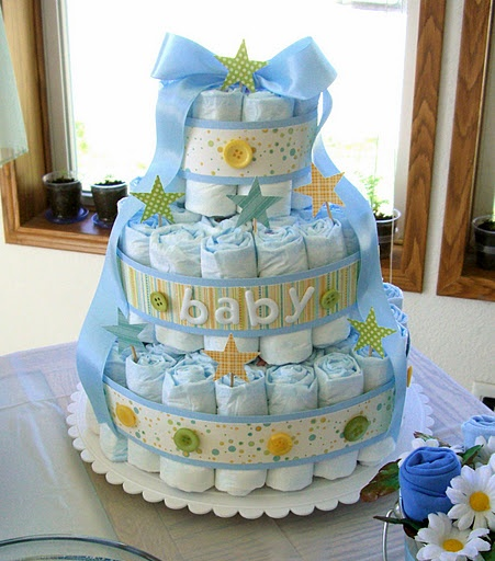 possible diaper cake idea