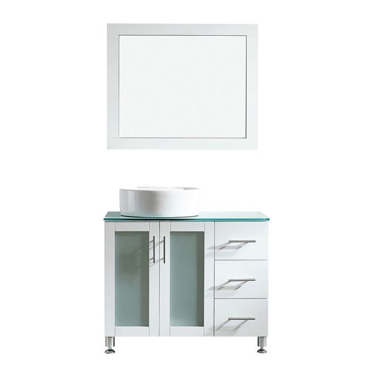 Vinnova Tuscany 36 inch Single White Vanity with White Vessel Sink  Glass  Countertop. 17 Best ideas about White Vessel Sink on Pinterest   Vessel sink