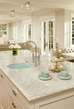 White Pearl Granite Design Ideas, Pictures, Remodel, and Decor - page 2