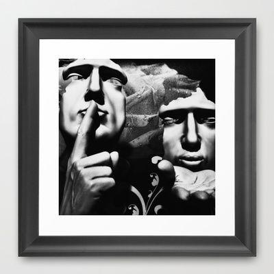 Top Secret Framed Art Print by Stoneriver - $32.00  #canada #britishcolumbia #vancouver #granvilleisland #city #cityscape #blackandwhite #bw #mono #monochrome #travel #world #present #framedprint #art #mystery #mysterious