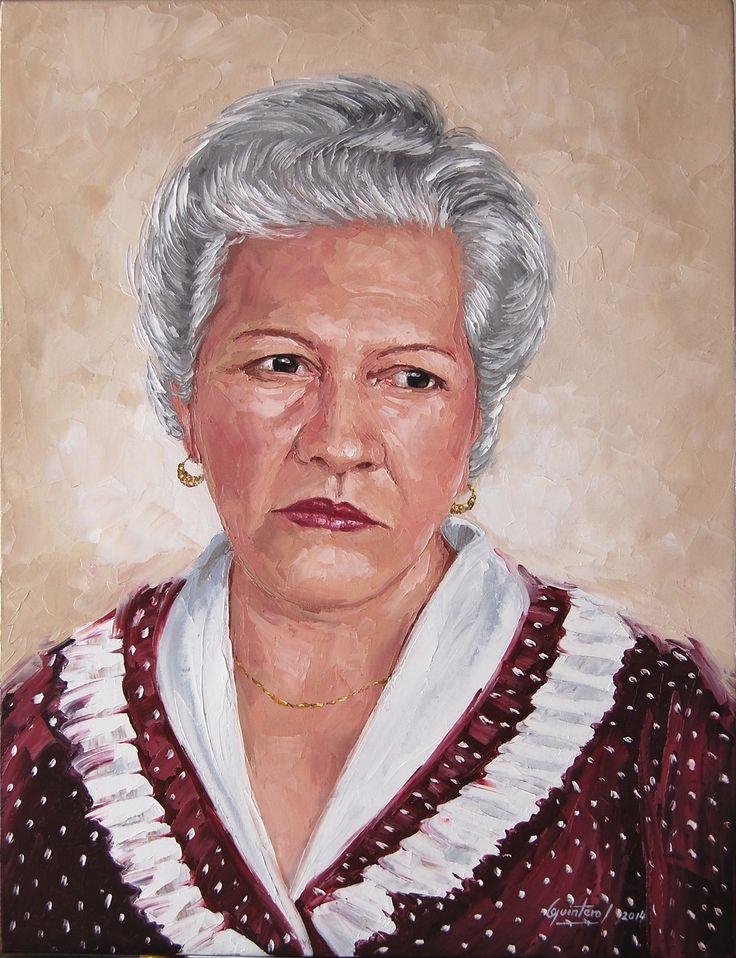 Graciela Gutierrez de Quintero - Oleo con espátula sobre lienzo - 61 x 46 cm  - 2014