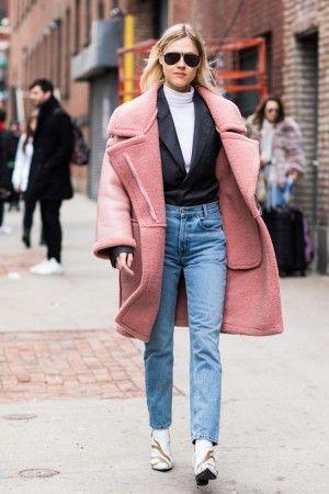 Street style на неделе моды в Нью-Йорке осень-зима 2018-2019   looks ... 656dffe695c
