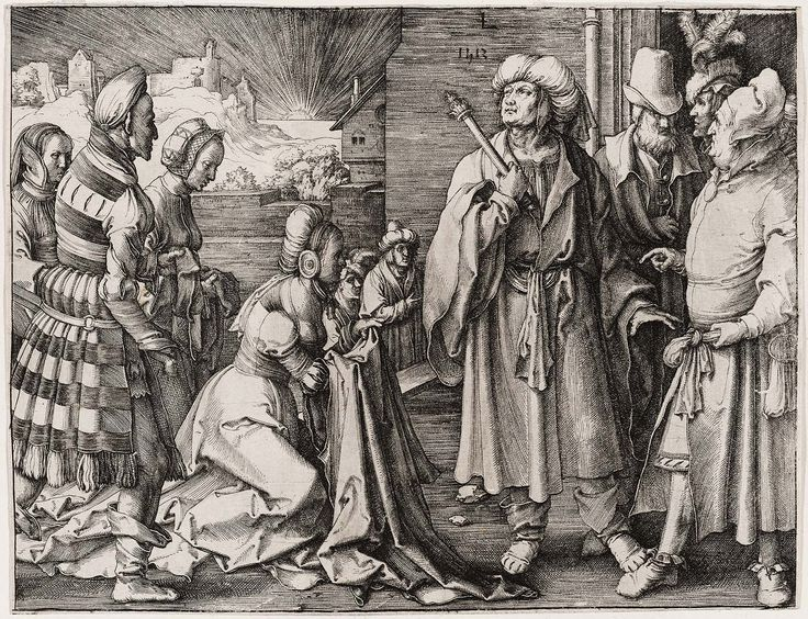 Potiphar's Wife Accusing Joseph (from a series of five 'The Story of Joseph') (1512)