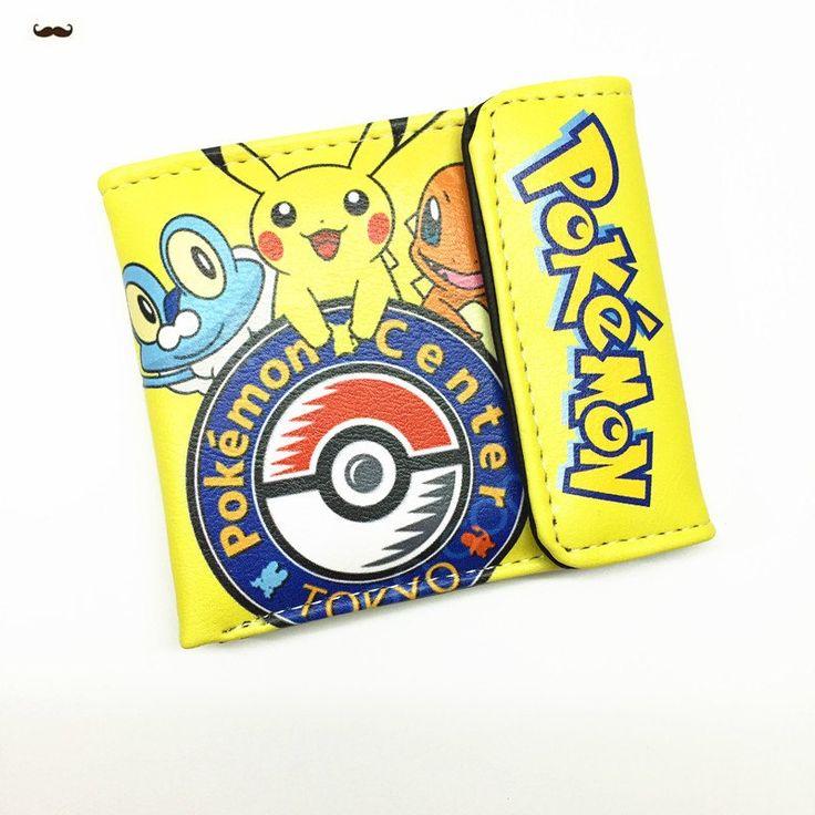 Pokemon Pocket Monster Pikachu Two/Three Fold Wallets