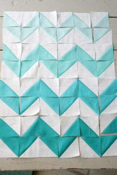 chevron quilting. Just triangles!chevron quilt-triangles @ DIY Home Ideas