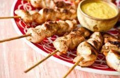 Receita Dedo de Moça: Espetinho de frango satay