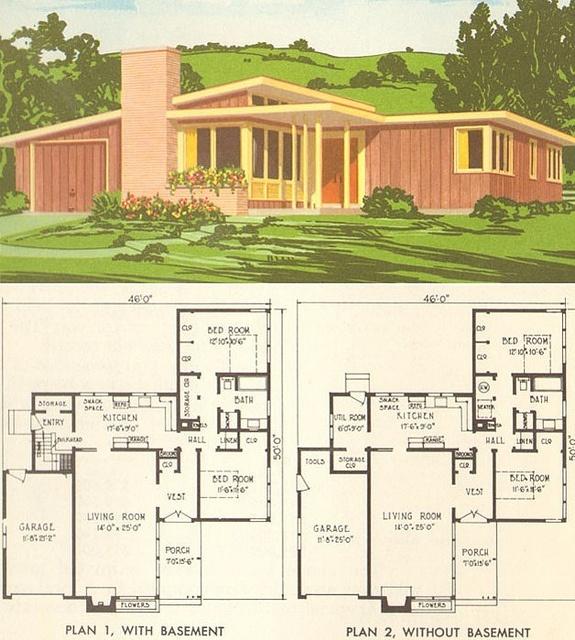 NPS plan 1954 | Flickr - Photo Sharing! 2 Bed, 1 Bath, Garage