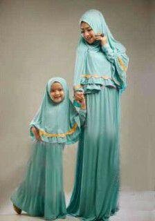 Baju gamis muslim syar'i ibu anak terbaru KL07