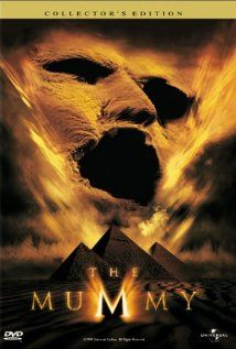 The Mummy (Brendan Fraser, Rachel Weisz, John Hannah).  I have this movie on DVD. Yet every time it comes on TV (which is a LOT) I always watch it. I thought Brendan Fraser was promising young actor in 'School Ties' but I fell in LOVE with him in 'The Mummy'.