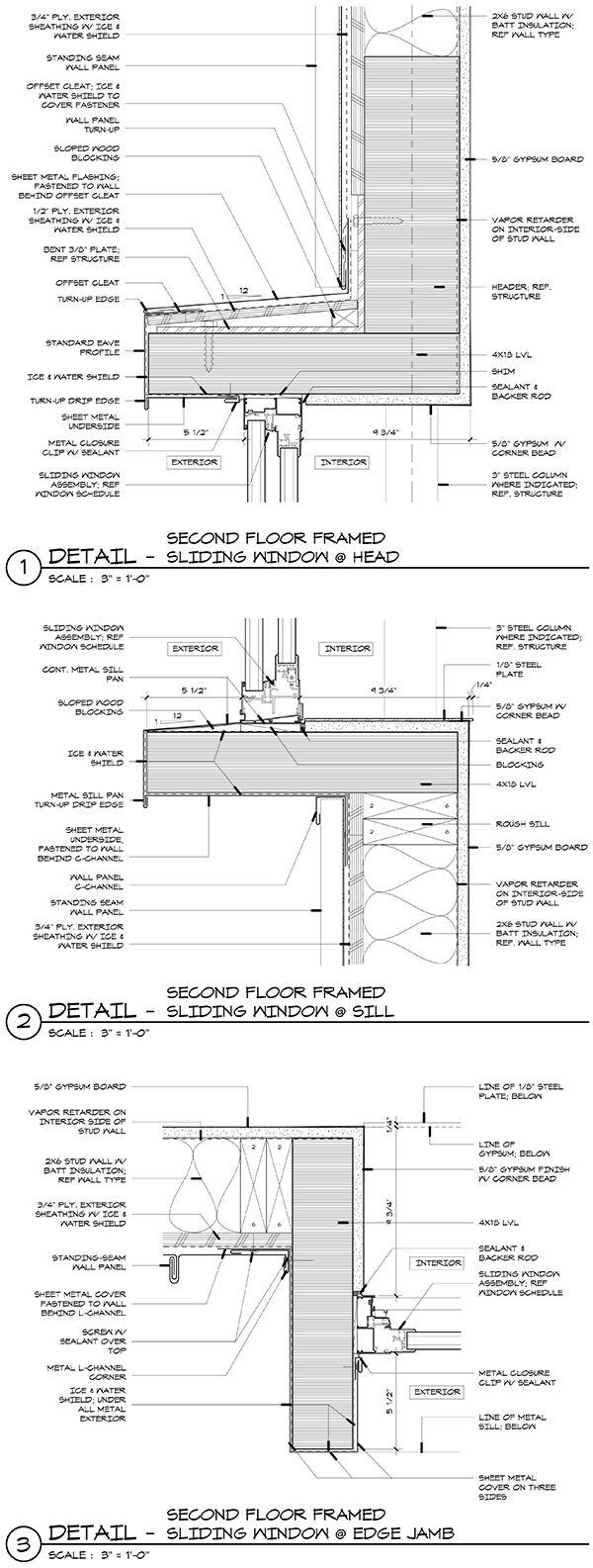 Cabin Window Details Arquitectura. Dibujos. Detalles. Secciones. Secciones constructivas