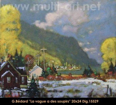 Original mixed media painting on canevas by Gilles Bedard #GillesBedard #artist #art #mixmediapainting #artist #originalpainting #fineart #canadianartist #quebecartist #spring #village #shadows #light #multiart #balcondart