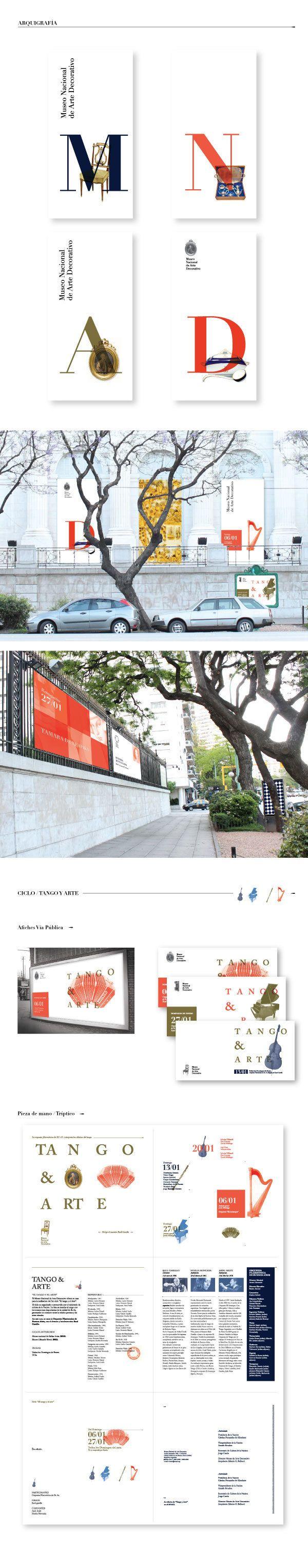 Sistema de Identidad Visual: MNAD by Gimena Drughieri, via Behance