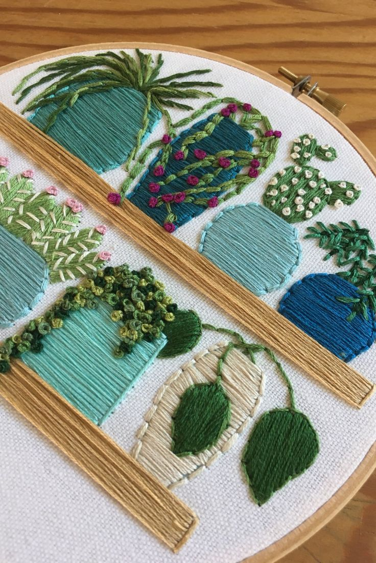 Plants. Embroidery. Planbroidery? Whatever you want to call it, we love it.